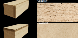 travertin veincut/crosscut